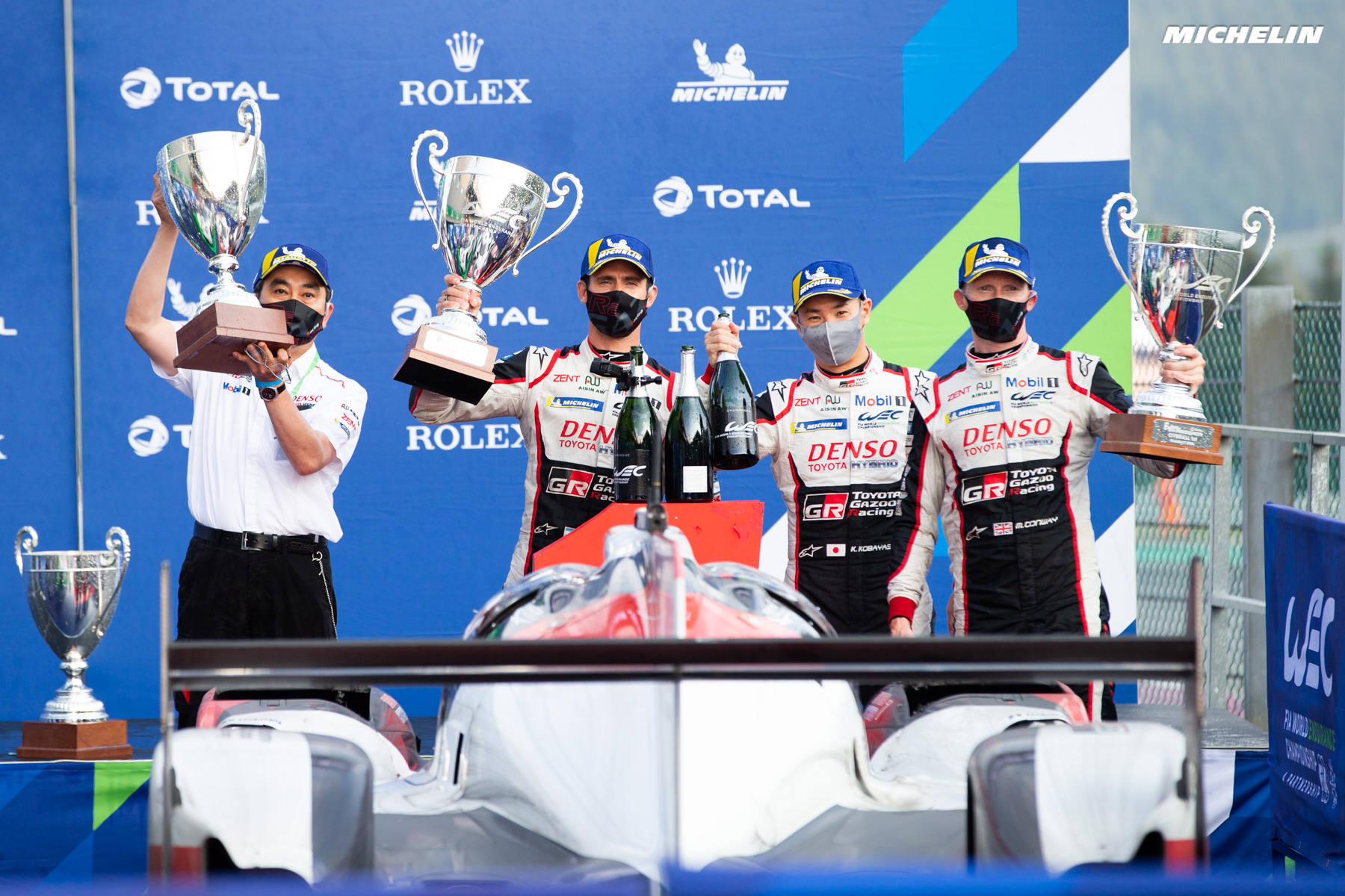 Toyota and Michelin finish 1st and 2nd at Spa-Francorchamps