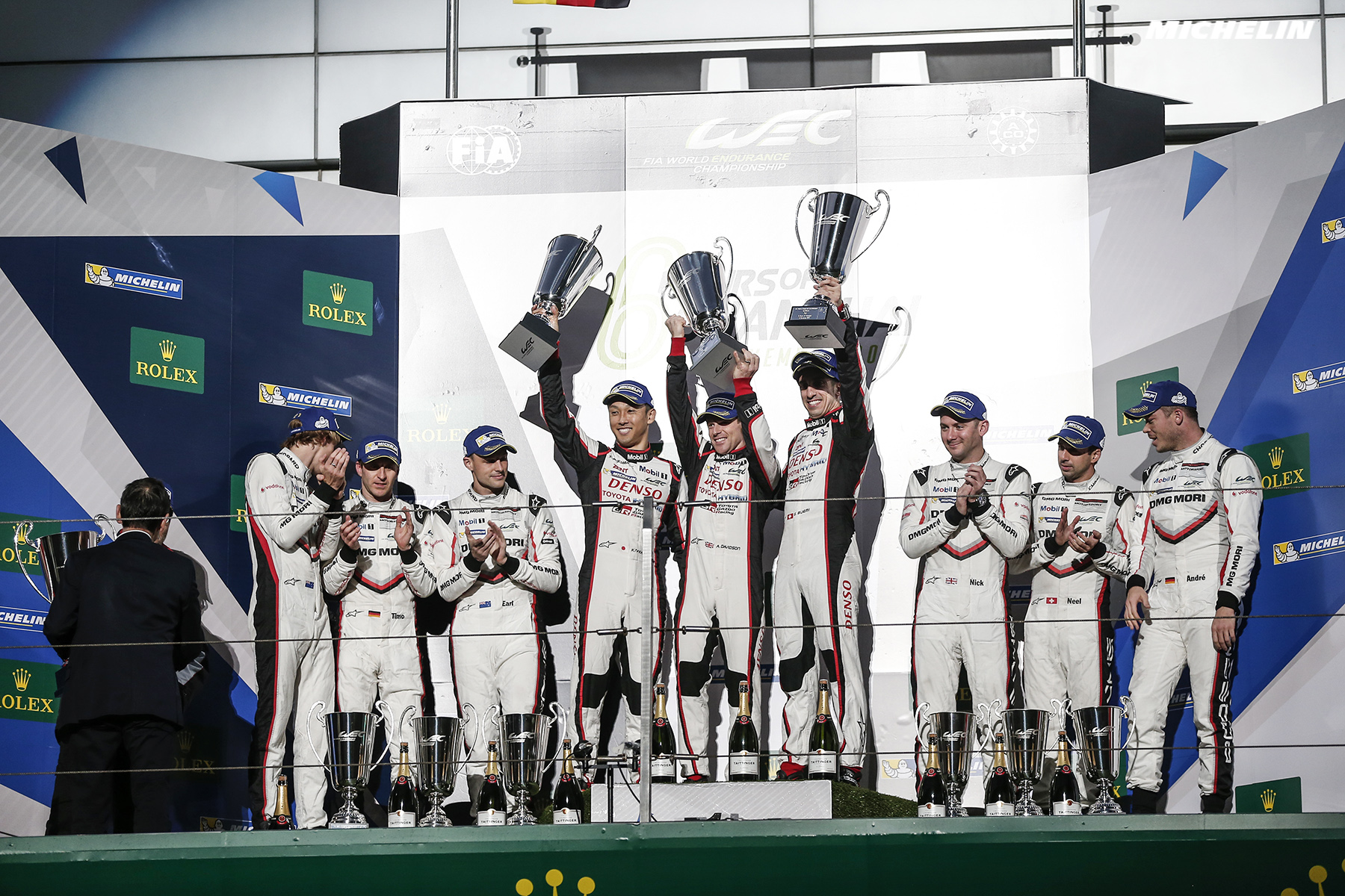 Toyota wins as Porsche/Michelin seals 2017 WEC crown